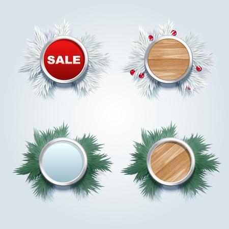 advertising wobbler: Christmas promotional label design