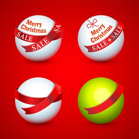 Christmas promotional design elements