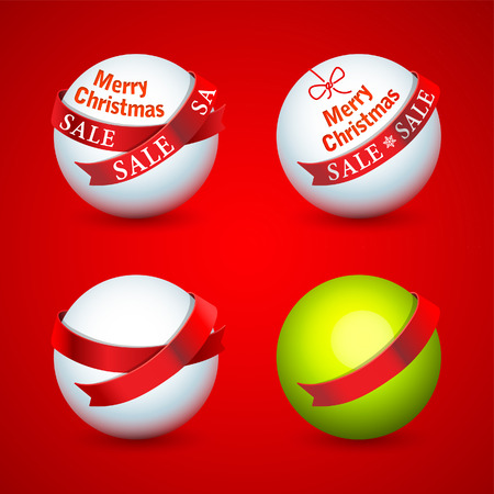 Christmas promotional design elements