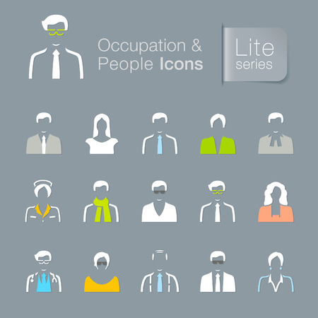 Occupation & people related icons Vector