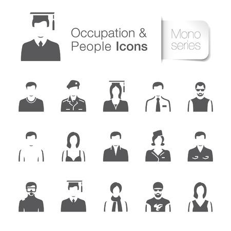 oficina antigua: Iconos Ocupación y personas relacionadas