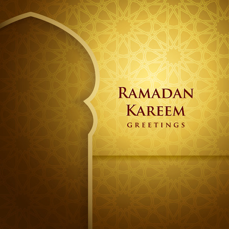 literally: Ramadan background.  Ramadan Kareem literally means fasting month.