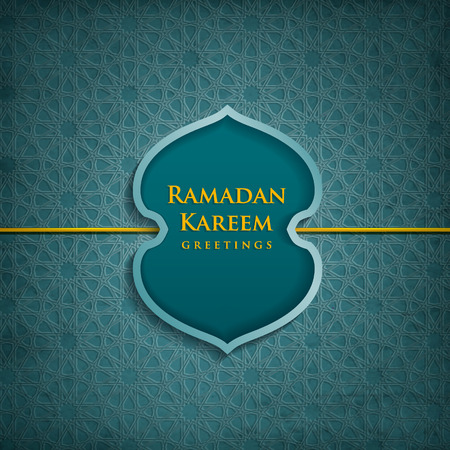 muslim pattern: Ramadan Kareem literally means fasting month.