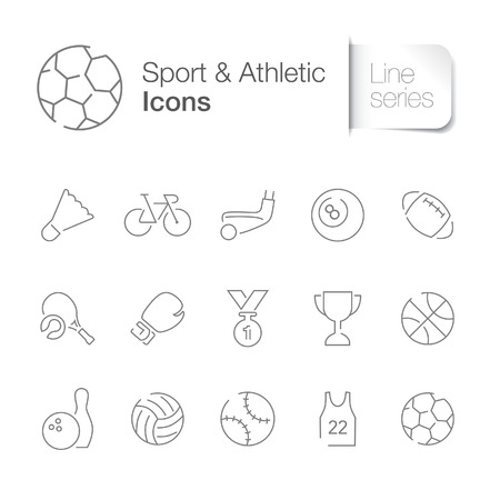Sport athletic related icons Illustration