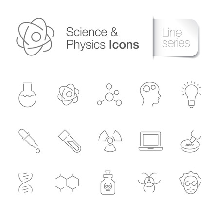 educations: Science physics related icons