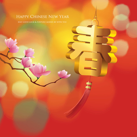 Chinese new year graphic Ilustracja