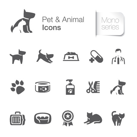 Pet animal related icons
