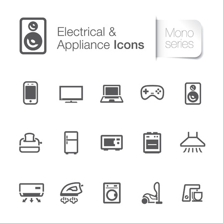 appliance: Electrical & appliance related icons