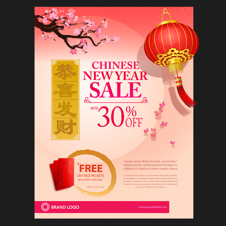 chinese new year background Banco de Imagens - 66708910