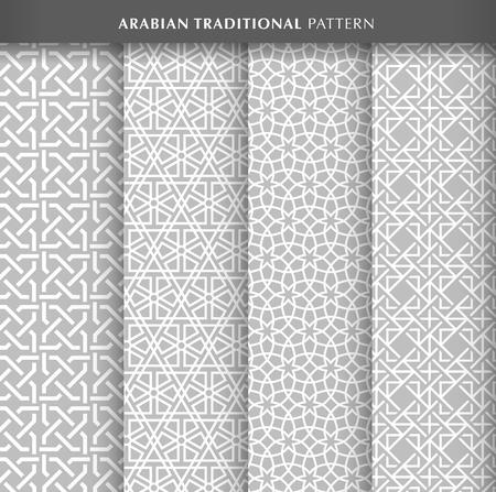 Arabian seamless pattern design collections Vector illustration.
