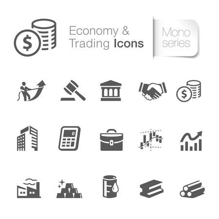 Economy and trading icons vector illustration design. Illustration