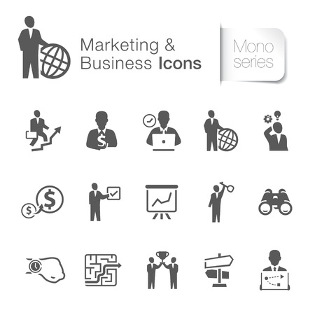 Marketing and business icons Vector illustration isolated on white background. Illustration