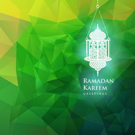 Ramadan graphic in green background