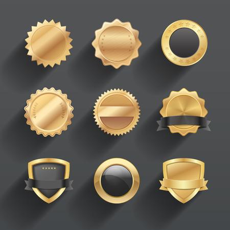Empty badges and seal design. Illustration