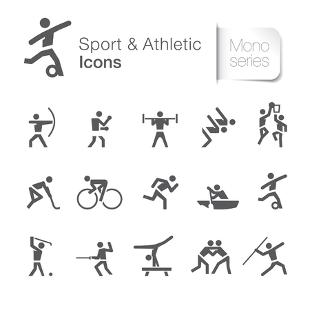 Sport related icons set vector illustration. Vectores