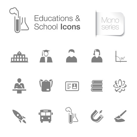 Educations & school icons for designer