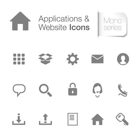 Webpage & applications icons for designer