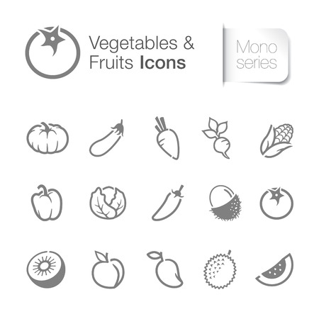 Vegetables & fruits icons