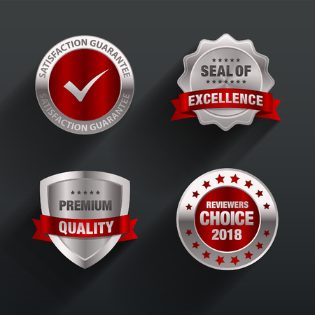 excellence guarantee red Badge & seal design