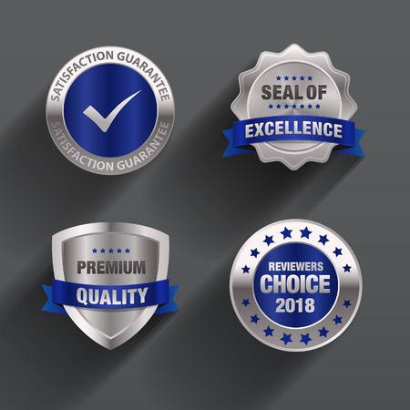 excellence guarantee blue Badge & seal design
