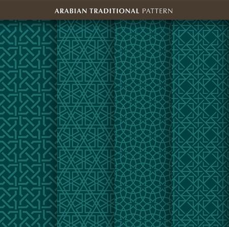 Traditional arabian pattern in green