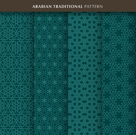 Traditional arabian pattern in green