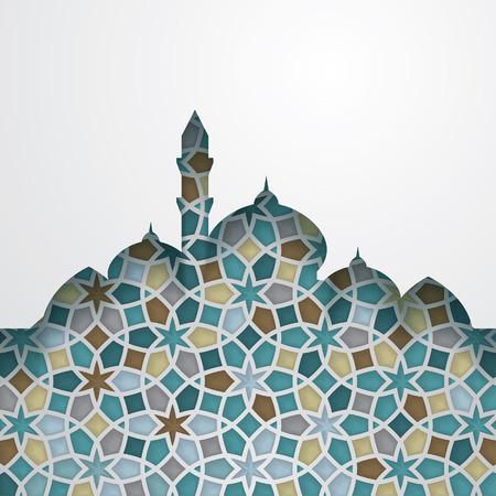 Islamic graphic design elements on white