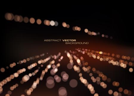 Abstract particles light background Ilustração