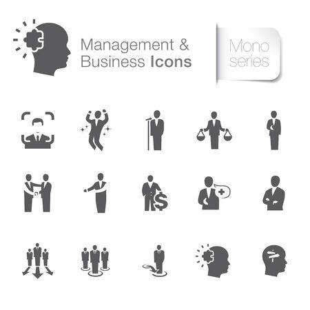 Management & business related icons. Positive thinking, ability. Ilustração