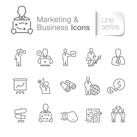 Marketing & business related icons. Training, investment, management, success, etc.