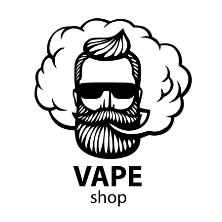 Hand-drawn hipster with mustache icon.