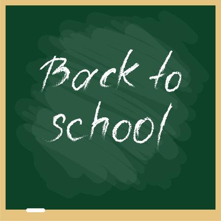 Vector illustration of school blackbourd. Back to school template.