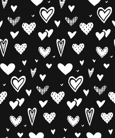 seamless pattern with hearts. romantic theme. Vector illustration. doodle Wedding pattern Valentine hearts