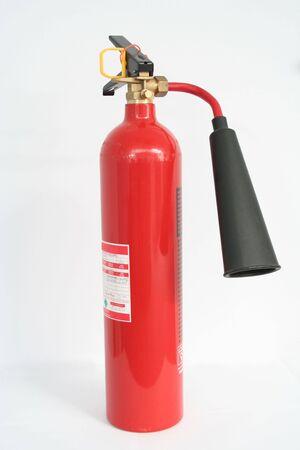 stifle: Carbon Dioxide Fire Extinguisher Stock Photo