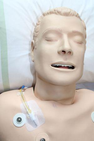 reanimować: Sztuczne wykorzystywane do udzielania pierwszej pomocy życia zawodowego w szpitalu Zdjęcie Seryjne