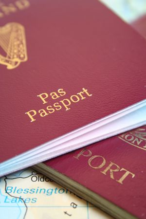 migrant: European passports Stock Photo