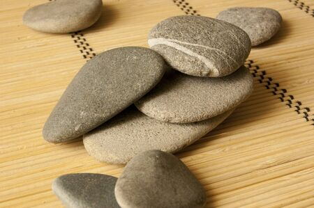 Smooth grey washed river stones