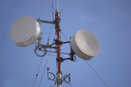 Comunication technology on a radio antenna tower