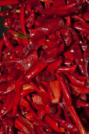 fresh chopped red pepper with seeds Stock Photo - 16417210