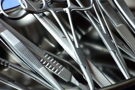 closeup chirurgische Instrumente in der Niere Tablett Lizenzfreie Bilder