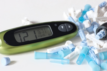 part of preventive medicine is represented by constant monitoring of blood glucose Stock Photo - 18285909