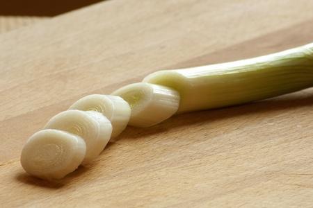 frische gr�ne Zwiebel im Fr�hjahr Saison