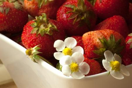 gesundes Fr�hst�ck mit frischen Erdbeeren Lizenzfreie Bilder