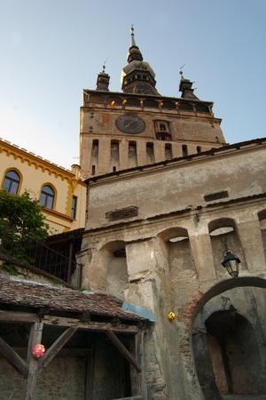 the citadel: imponendo l'immagine principale di ingresso in Sighisoara cittadella Romania Archivio Fotografico