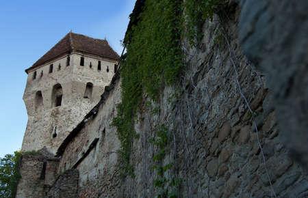 Seitenansicht des mittelalterlichen Stadtmauer von Sighisoara Zitadelle Rum�nien