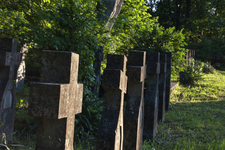 world war two: Cemetery with Crosses for World War Two heroes Romania