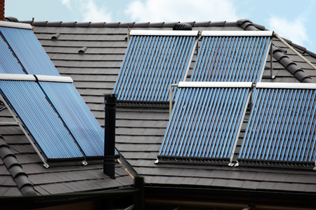 thermal tubes on rooftop sunlight energy