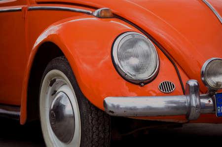 klassische Volkswagen Bug Frontpartie mit Scheinwerfer