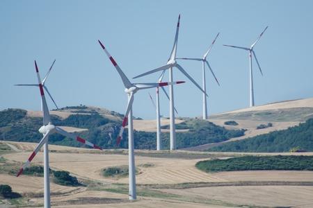 Windpark in das moderne Konzept der erneuerbaren Energien