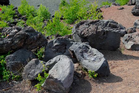 volcanic rocks from the french national park in Auvergne